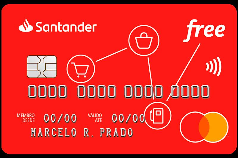 Quais as vantagens cartão de crédito Santander Free?